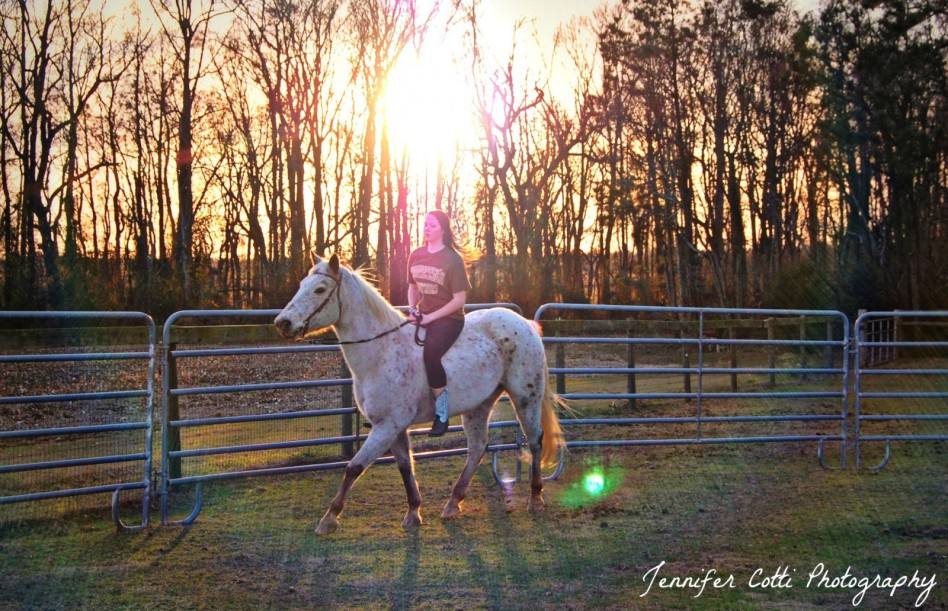 Claire Riding Sunset 2